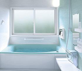 浴室の「床の冷え」にも、二重窓は効果があります